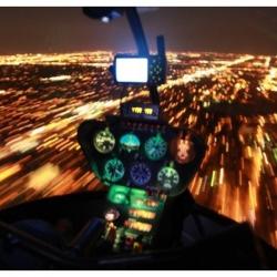 Ночной полет на Robinson R44